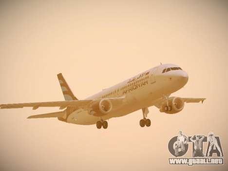 Airbus A320-214 Afriqiyah Airways para GTA San Andreas