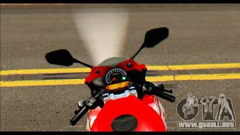 Honda All New CBR150R para GTA San Andreas vista posterior izquierda