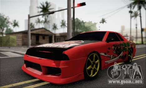 New Elegy Drift Edition para GTA San Andreas vista posterior izquierda