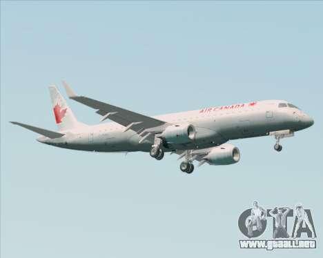 Embraer E-190 Air Canada para la visión correcta GTA San Andreas