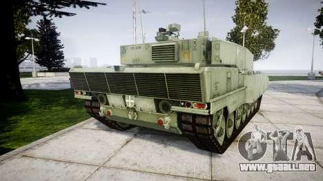 Leopard 2A7 EU Green para GTA 4 Vista posterior izquierda
