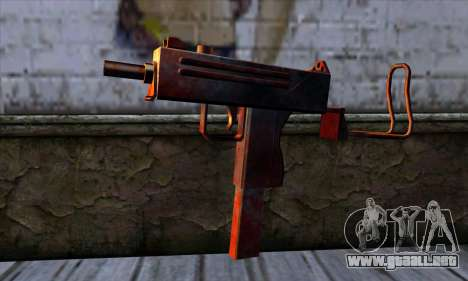 Micro Uzi v2 Rusty-sangriento para GTA San Andreas