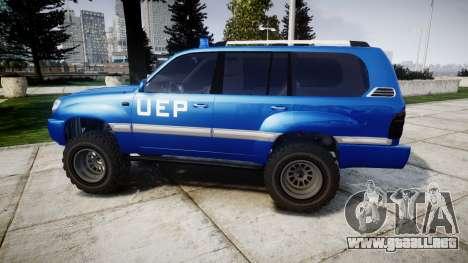 Toyota Land Cruiser 100 UEP blue [ELS] para GTA 4 left