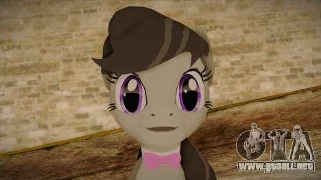 Octavia from My Little Pony para GTA San Andreas tercera pantalla