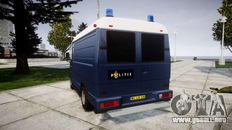 Mercedes-Benz Vario 614D SWAT [ELS] para GTA 4 Vista posterior izquierda