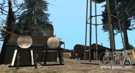El Altruista campamento en el monte Chiliad para GTA San Andreas sexta pantalla