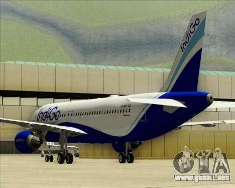 Airbus A320-200 IndiGo para la vista superior GTA San Andreas
