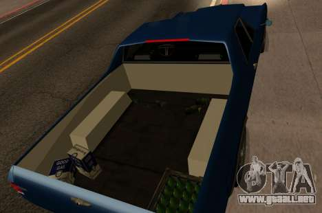 New picador para GTA San Andreas vista posterior izquierda