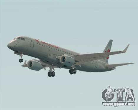 Embraer E-190 Air Canada para GTA San Andreas vista posterior izquierda