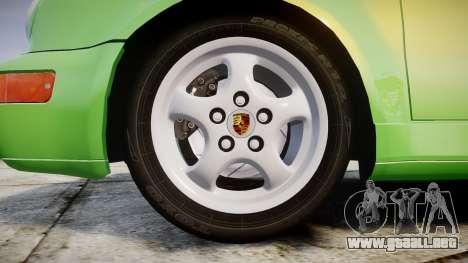 Porsche 911 (964) Cabrio para GTA 4 vista hacia atrás