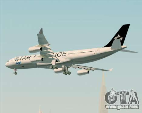 Airbus A340-300 All Nippon Airways (ANA) para vista inferior GTA San Andreas