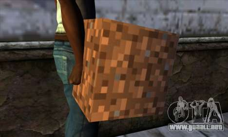Bloque (Minecraft) v9 para GTA San Andreas tercera pantalla