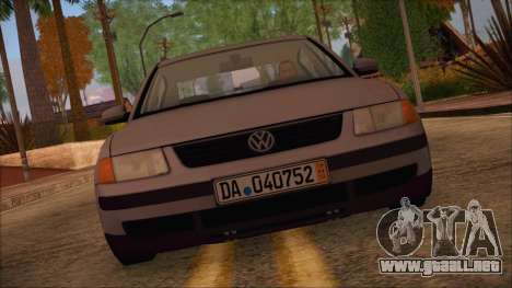 Volkswagen Passat para GTA San Andreas vista posterior izquierda