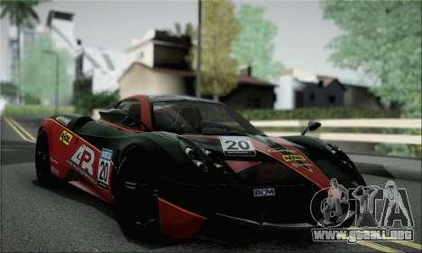 Pagani Huayra TT Ultimate Edition para GTA San Andreas vista hacia atrás