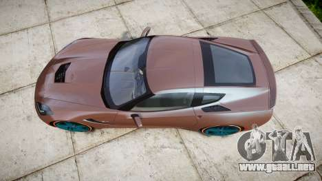 Chevrolet Corvette C7 Stingray 2014 v2.0 TireBr1 para GTA 4 visión correcta