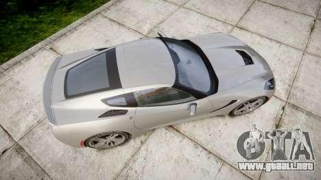 Chevrolet Corvette C7 Stingray 2014 v2.0 TireMi2 para GTA 4 visión correcta