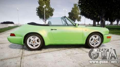 Porsche 911 (964) Cabrio para GTA 4 left