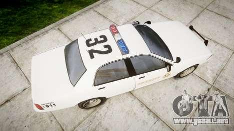 GTA V Vapid Police Cruiser Rotor [ELS] para GTA 4 visión correcta