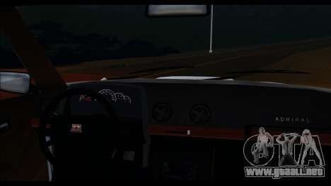 Admiral HD para GTA San Andreas vista hacia atrás