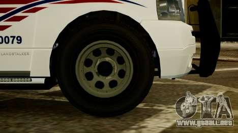 Dundreary Landstalker [ELS] para GTA 4 Vista posterior izquierda