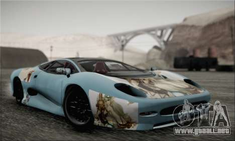 Jaguar XJ220S Ultimate Edition para visión interna GTA San Andreas