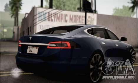 Tesla Model S 2014 para GTA San Andreas left