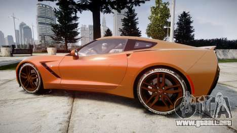 Chevrolet Corvette C7 Stingray 2014 v2.0 TireMi4 para GTA 4 left
