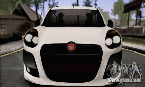 Fiat Doblo 2010 Edit para GTA San Andreas vista posterior izquierda
