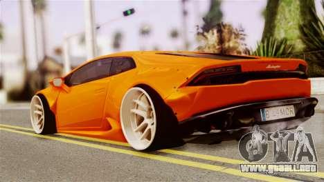 Lamborghini Huracan LB para GTA San Andreas left