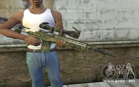 M14 EBR Digiwood para GTA San Andreas tercera pantalla