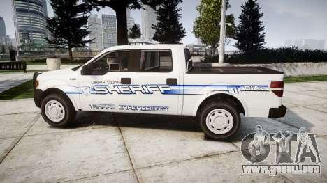 Ford F-150 [ELS] Liberty County Sheriff para GTA 4 left