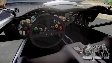 Ariel Atom V8 2010 [RIV] v1.1 Vollmer para GTA 4 vista interior