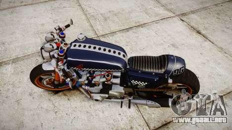Honda CB750 cafe racer para GTA 4 visión correcta