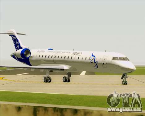 Embraer CRJ-700 China Express Airlines (CEA) para vista lateral GTA San Andreas