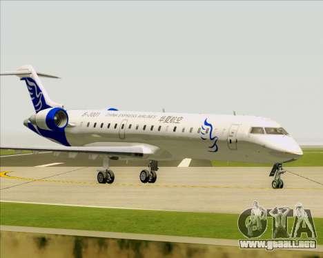Embraer CRJ-700 China Express Airlines (CEA) para vista lateral GTA San Andreas