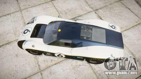 Ford GT40 Mark IV 1967 PJ Fernando Pedace 6 para GTA 4 visión correcta
