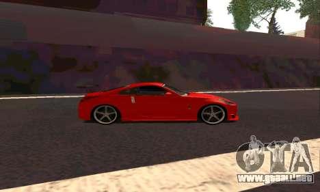 Nissan 350Z Tune para GTA San Andreas vista posterior izquierda
