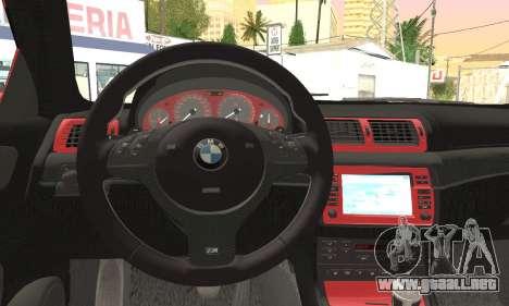BMW M3 Coupe Tuned Version Burnout para la visión correcta GTA San Andreas