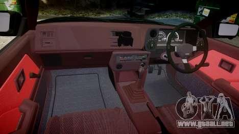Toyota Corolla Levin (AE86) para GTA 4 vista hacia atrás