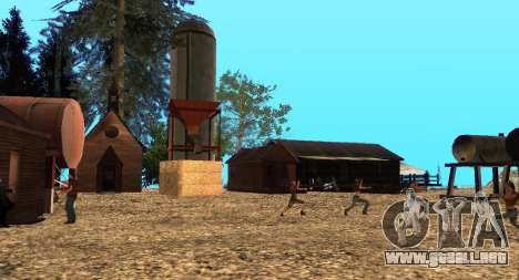 El Altruista campamento en el monte Chiliad para GTA San Andreas novena de pantalla