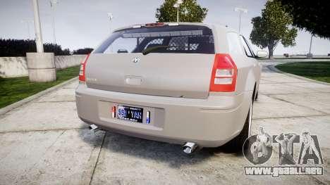 Dodge Magnum 2004 [ELS] Liberty County Sheriff para GTA 4 Vista posterior izquierda