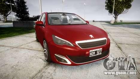 Peugeot 308 2015 para GTA 4