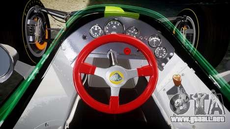 Lotus 49 1967 green para GTA 4 vista hacia atrás