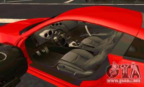 Nissan 350Z Tune para visión interna GTA San Andreas