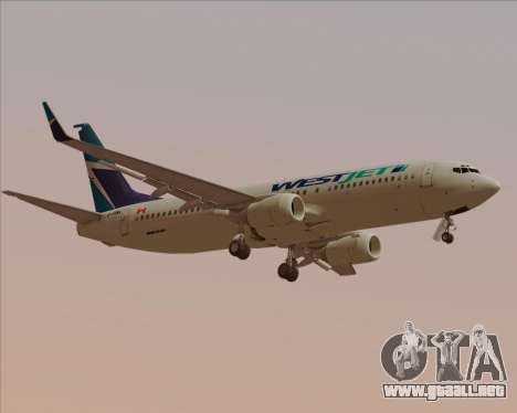 Boeing 737-800 WestJet Airlines para la visión correcta GTA San Andreas