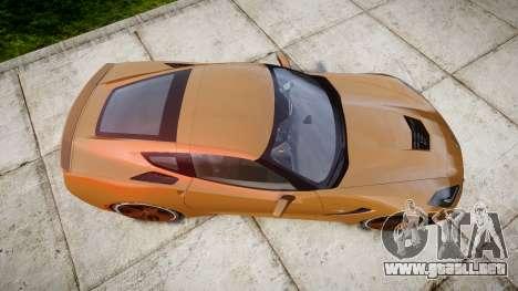 Chevrolet Corvette C7 Stingray 2014 v2.0 TireMi4 para GTA 4 visión correcta