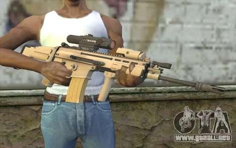 MK16 MK4CQ-T para GTA San Andreas tercera pantalla