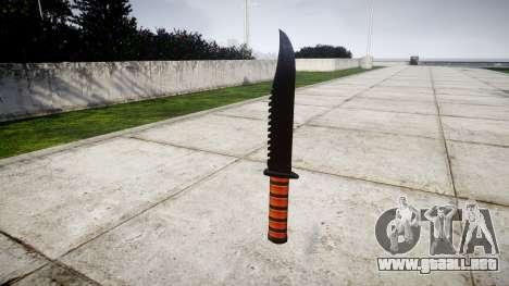 La lucha cuchillo Ka-Bar para GTA 4 segundos de pantalla