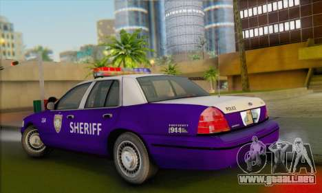 Ford Crown Victoria 1999 Walking Dead para GTA San Andreas left