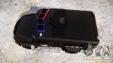 SWAT Van Metro Police [ELS] para GTA 4 visión correcta